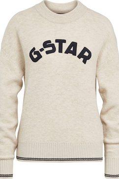 g-star raw trui met ronde hals »college gr r loose knit wmn«