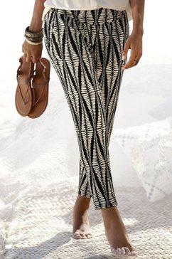 lascana 7-8-broek met brede boord zwart