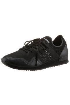 tommy hilfiger sneakers iconic sock knit runner in de materiaalmix zwart