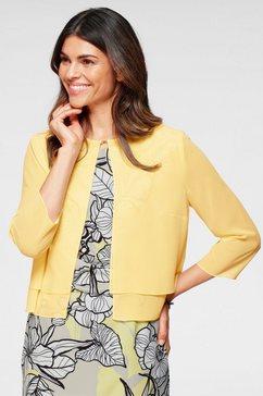 select! by hermann lange blouseblazer in laagjes-look in korter model geel