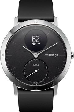 withings activité steel hr (40 mm) fitness-horloge zwart