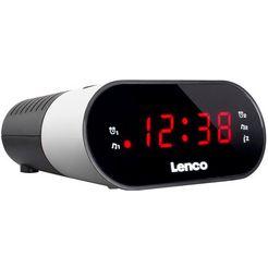 lenco »cr-07« wekkerradio wit