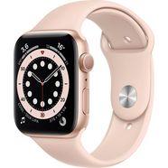 apple watch series 6 gps, aluminium kast met sportbandje 44 mm inclusief oplaadstation (magnetische oplaadkabel) roze