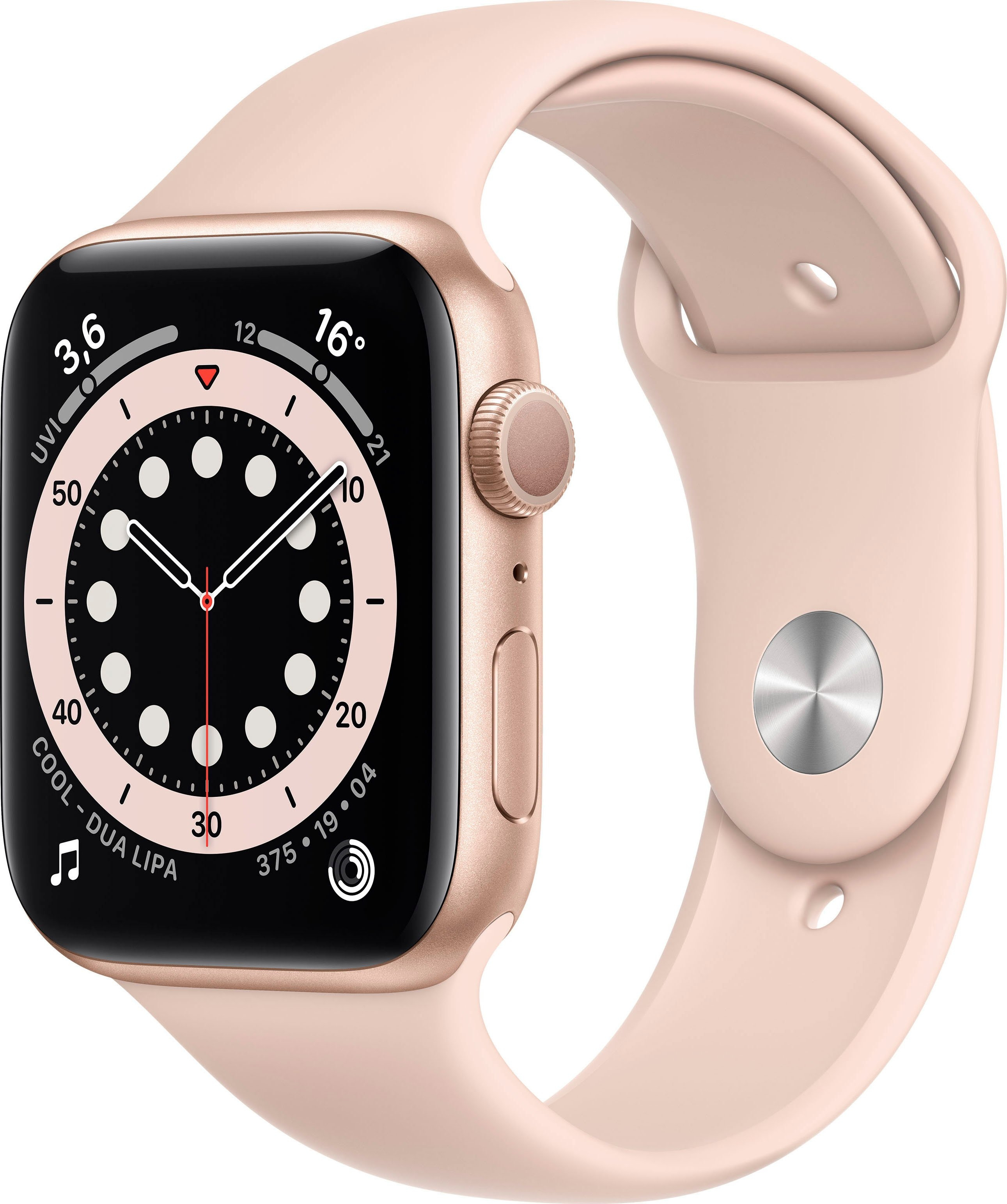 Apple watch Series 6 gps, aluminium kast met sportbandje 44 mm inclusief oplaadstation (magnetische oplaadkabel) veilig op otto.nl kopen