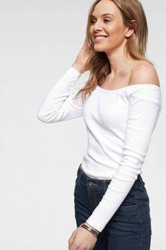 arizona shirt met carmenhals off-shoulder verschillend te dragen wit