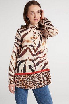eterna blouse met lange mouwen »modern classic« bruin