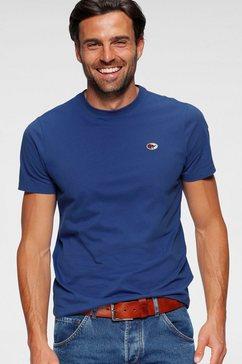 kangaroos t-shirt unikleur blauw