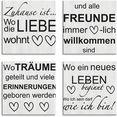 artland artprint op linnen waar de liefde woont 1-4 (4 stuks) grijs