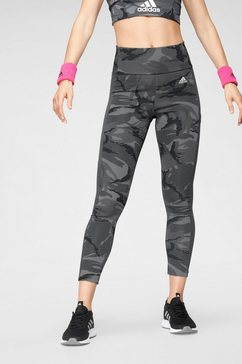 adidas performance functionele tights »w camo 7-8 tig« grijs