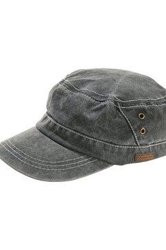 jan vanderstorm army cap bode lichte used-look grijs