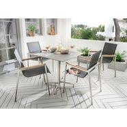 destiny eethoek altos ii fauteuil taupe met loft tafel 80 x 80 cm, tafelblad bijzonder hoge kras-, slijtage- en schokbestendigheid (set) zwart