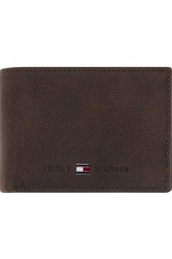 tommy hilfiger portemonnee »johnson mini cc flap coin pocket« bruin