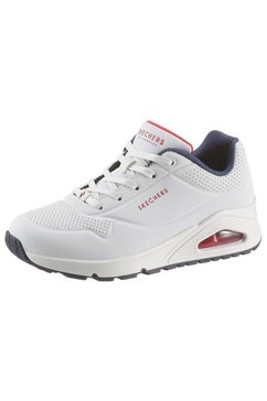 skechers sneakers met sleehak »uno - stand on air« wit