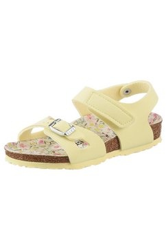birkenstock sandalen colorado met gebloemde binnenzool, smalle schoenwijdte geel