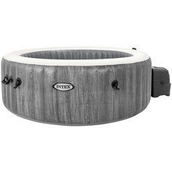 intex whirlpool purespa™ bubble massage greywood deluxe 7-delig, oexh: 196x71 cm grijs