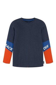 tom tailor shirt met lange mouwen en opschrift blauw