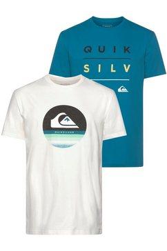 quiksilver t-shirt »stack shift flaxton pack« (set van 2) groen