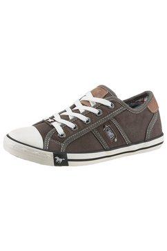 mustang shoes sneakers met decoratieve stiksels grijs