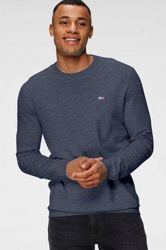 tommy jeans gebreide trui tjm lightweight heather sweater blauw
