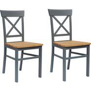 "home affaire stoel ""tatra"" blauw"