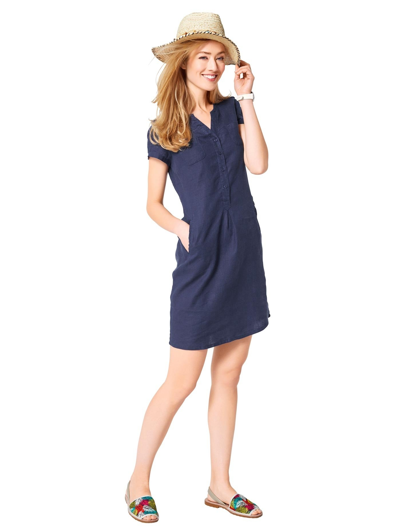 LINEA TESINI by Heine zomerjurk Linnen jurk goedkoop op otto.nl kopen
