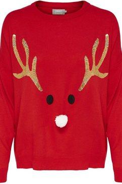 only trui met ronde hals »onlxmas reindeer« rood