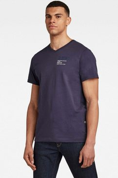 g-star raw shirt met v-hals »,g-star chest graphic slim v t« blauw