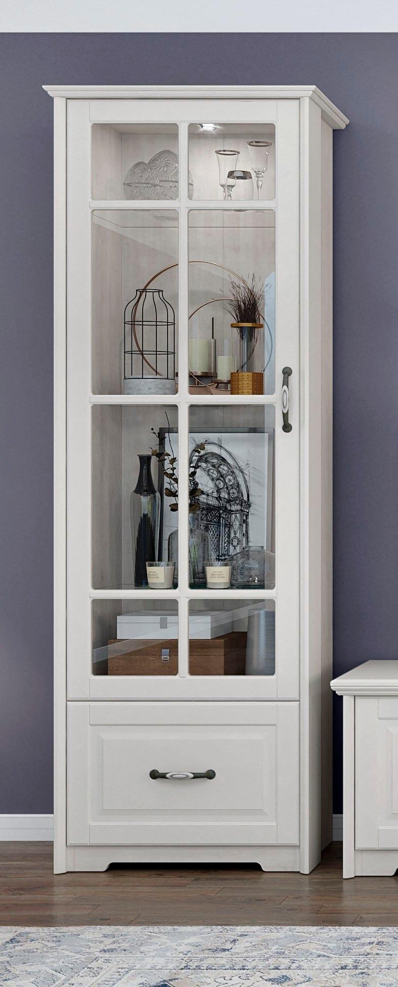 Home affaire vitrinekast Evergreen UV gelakt, deur met veiligheidsglas 4 mm, met soft-closefunctie bij OTTO online kopen