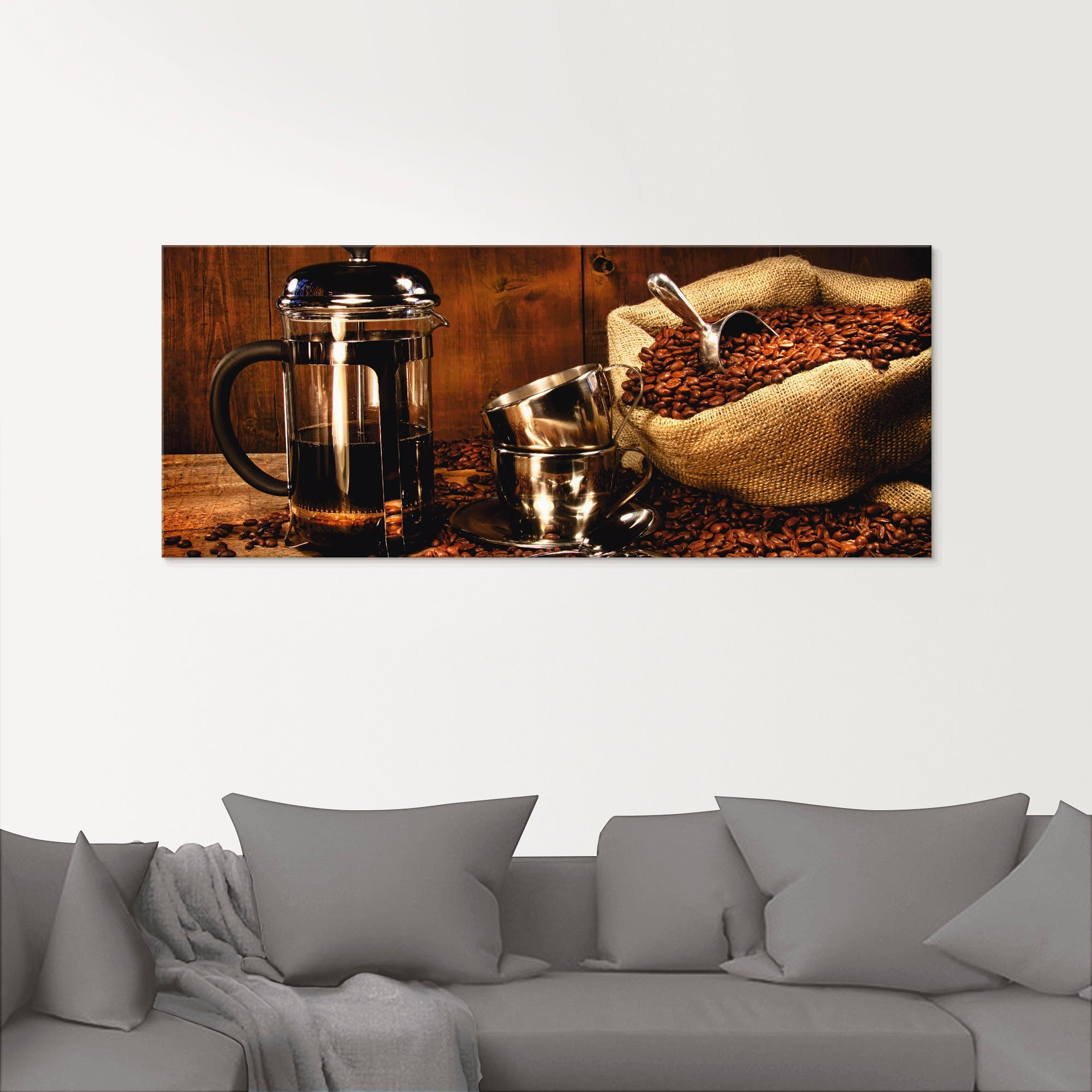 Artland print op glas Zak koffiebonen met pers (1 stuk) bestellen: 30 dagen bedenktijd