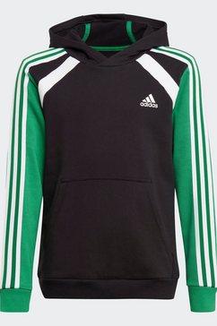 adidas performance hoodie comfort colorblock zwart