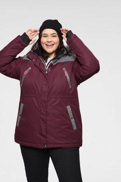 polarino ski-jack met vele praktische zakken paars
