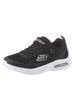 skechers kids sneakers microspec max met klittenbandsluiting zwart
