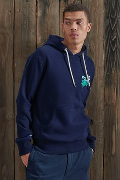 superdry hoodie tri classics hood blauw