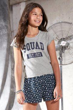 arizona t-shirt in kort, hoekig model grijs