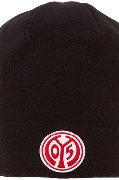 kappa fleecemuts mainz 05 fleecemuetze met opvallend mainz 05 logoborduursel voor zwart
