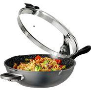 stoneline wok ø 32 cm, afneembare grepen, inductie grijs