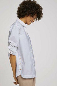 tom tailor mine to five overhemdblouse shirt met splitdetail wit