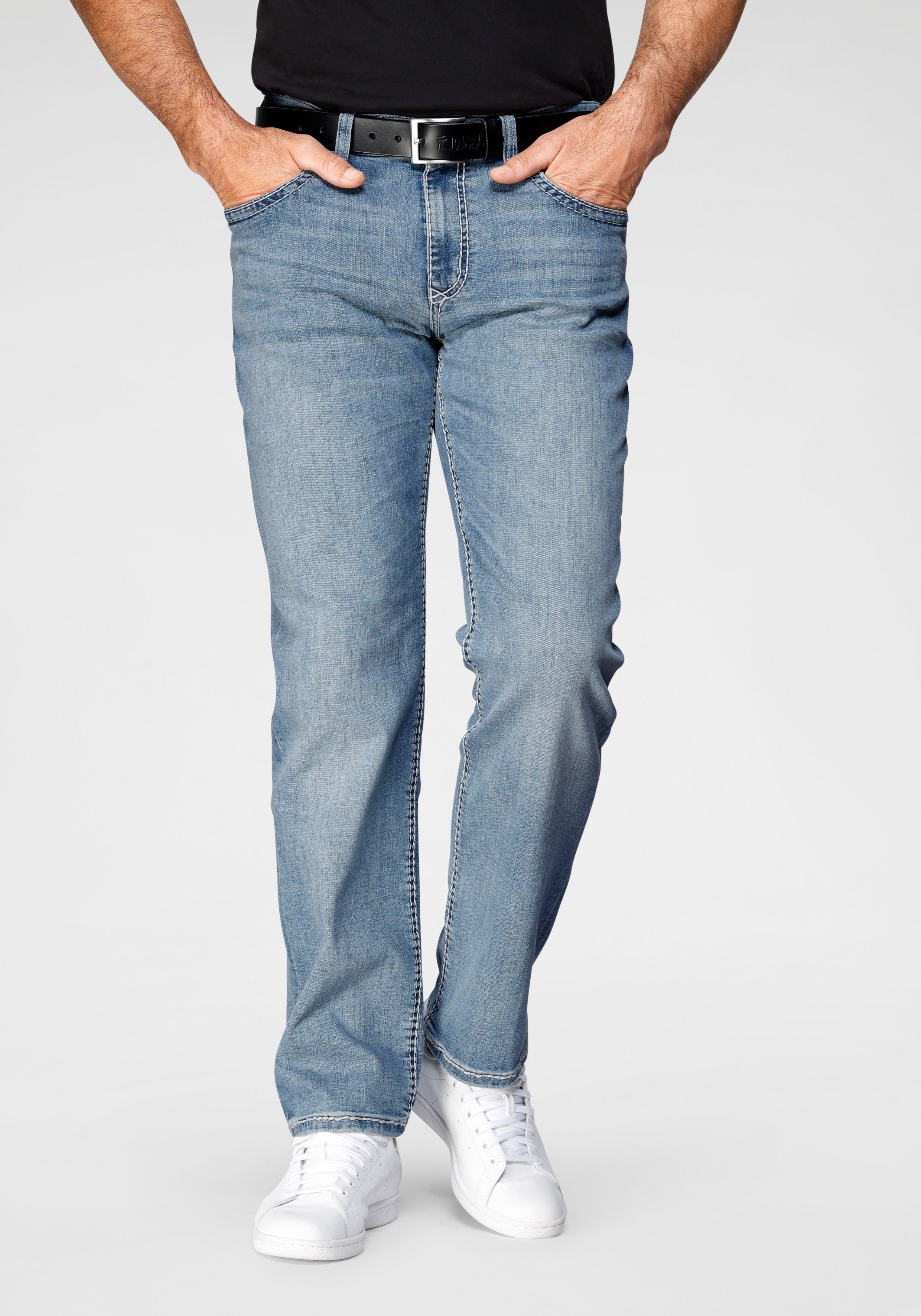 Pioneer Authentic Jeans straight jeans Rando dikke naden veilig op otto.nl kopen