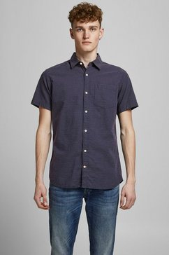 jack  jones shirt met korte mouwen abel shirt blauw