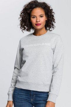 calvin klein sweatshirt met calvin klein jeans logo-opschrift grijs