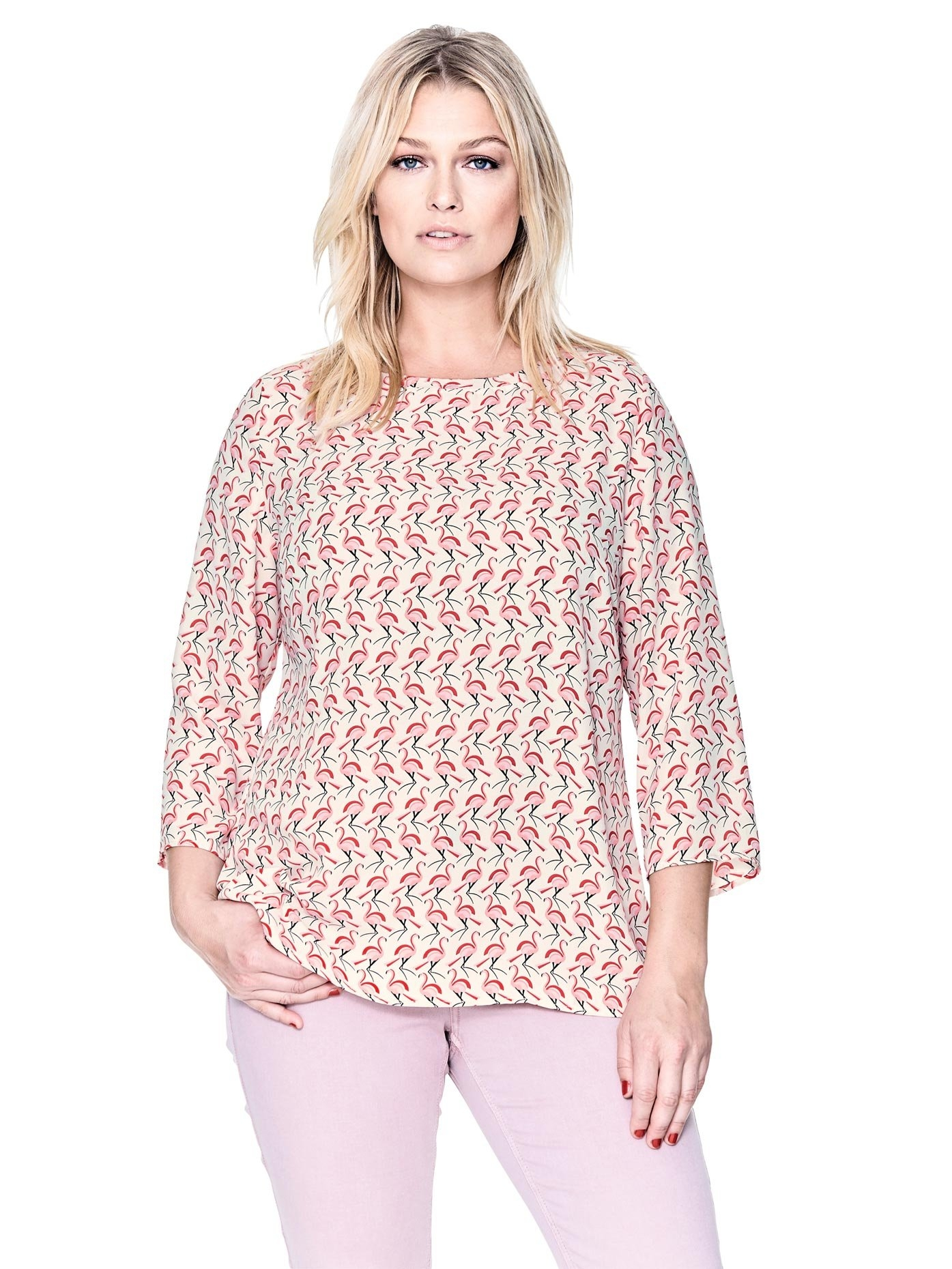 LINEA TESINI by Heine gedessineerde blouse - gratis ruilen op otto.nl