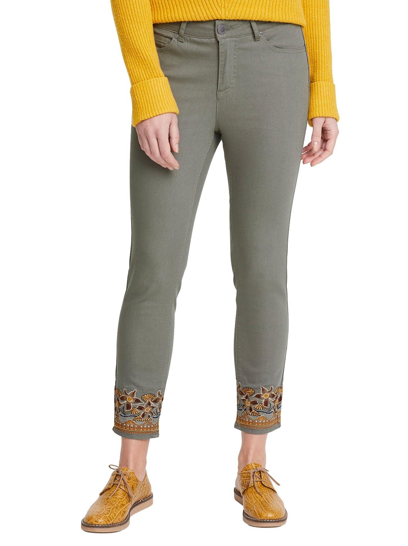 LINEA TESINI by Heine Skinny jeans met borduurwerk nu online bestellen