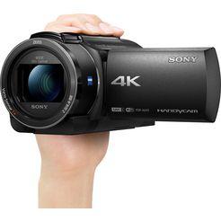 sony camcorder »ax43« (4k ultra hd, wlan (wi-fi) nfc, 20x opt. zoom) zwart