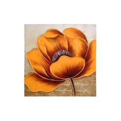 echt schilderij oranje