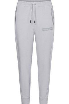 calvin klein performance joggingbroek pw - knit pants met reflecterende, contrastkleurige details grijs