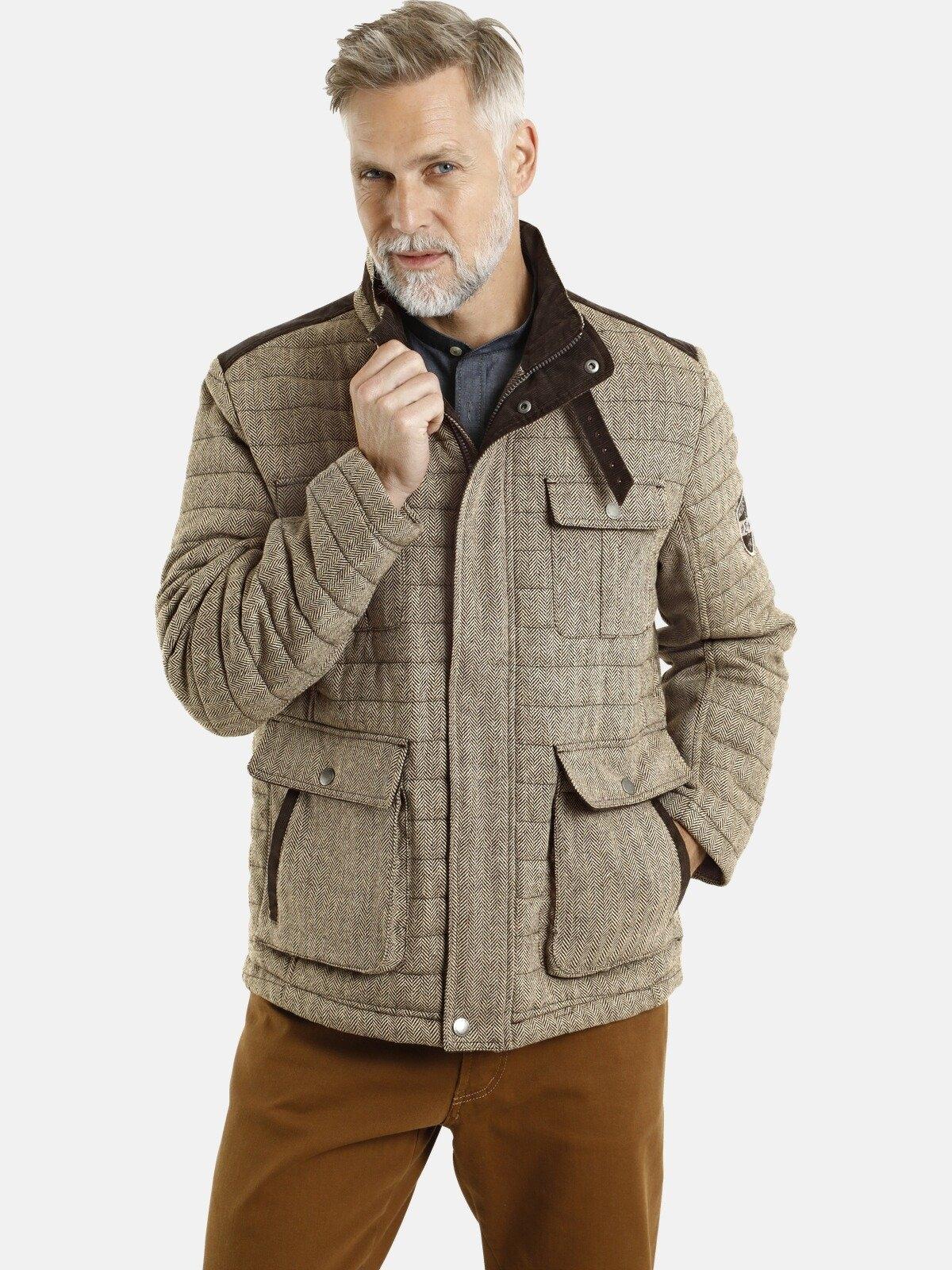 Jan Vanderstorm gewatteerde jas CLEAS met chic visgraatdessin - verschillende betaalmethodes