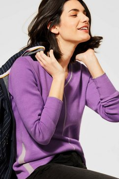 cecil gebreide trui gemaakt van fijn breisel paars
