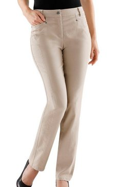 cosma jeans in cotton-feeling-uitvoering beige