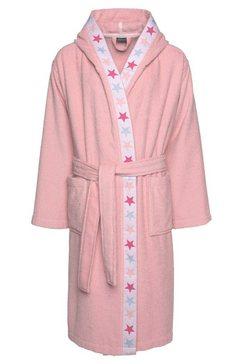 luettenhuett kinderbadjas tilly met sterren op de rand (1 stuk) roze