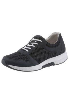 gabor rollingsoft sneakers met sleehak met verwisselbaar optifit-voetbed blauw